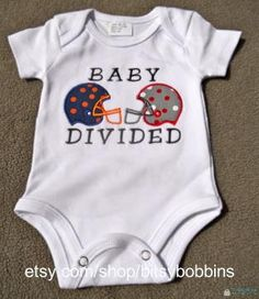 House, Kid or Baby Divided - ANY TEAMS -  Onesie or T shirt. $16.00, via Etsy.