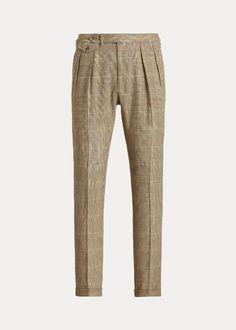 Pleated Plaid Tweed Suit Trouser Ralph Lauren, Pajama Pants, Pajamas, Sweatpants, Products, Fashion, Tweed Suits, Slacks Outfit, Pjs