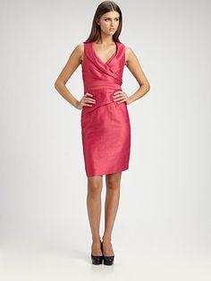 Kay Unger - Shawl Collar Dress - Saks.com