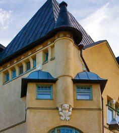 Jugendstil building in Helsinki, Finland Helsinki, Art Nouveau, Northen Lights, Finland Travel, Scandinavian Countries, Old Buildings, Capital City, Amazing Architecture, House Colors