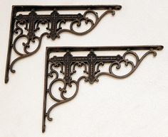 Victorian brackets + shelving for kitchen