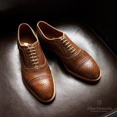 Rush Street in Golden Brown Chromexcel Leather - Cap-Toe Lace-Up Oxford Men's Casual Shoes #allenedmonds
