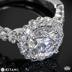 Ritani Masterwork Shared-Prong Diamond Engagement Ring from the Ritani Masterwork Collection.