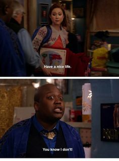 Tituss is hard relatable Unbreakable Kimmy Schmidt Quotes, New Girl Schmidt, Parks And Rec Memes, Snl News, Have A Nice Life, New Girl Quotes, Nick Miller, Tv Show Quotes, Wholesome Memes