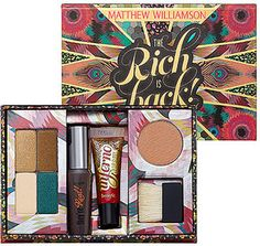 Benefit cosmetics Matthew WIlliamson palette, Benefit Cosmetics Matthew Williamson The Rich is back, The rich is back palette