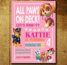 Invitations - Paw Patrol Invitation - Paw Patrol Birthday - Paw Patrol…
