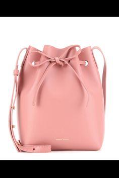 Mini Leather Bucket Bag by: Mansur Gavriel Pink Handbags, Purses And Handbags, Leather Handbags, Pink Purses, Cheap Handbags, Luxury Handbags, Red Shoulder Bags, Shoulder Handbags, Leather Shoulder Bag