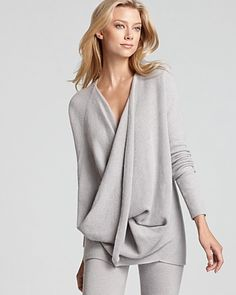 Donna Karan New York Sweater - Cross Front Drape | Bloomingdale's