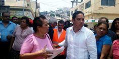 Inaugura Evodio obras mal hechas e incompletas en Acapulco