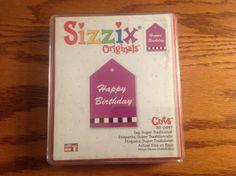 Sizzix Red Die Originals Tag Super Traditional New   eBay
