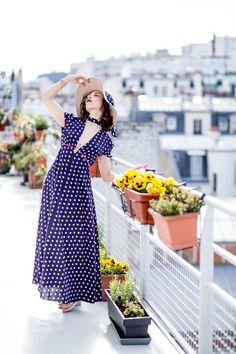 Robe champêtre sur-mesure - Fabriqué à Paris - tenue d'invité mariage