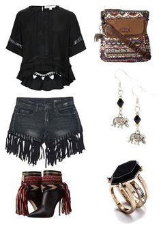 """""""boho summer"""" by im-karla-with-a-k on Polyvore featuring Sans Souci, Dsquared2, Jonathan Simkhai and Braided Birch"""