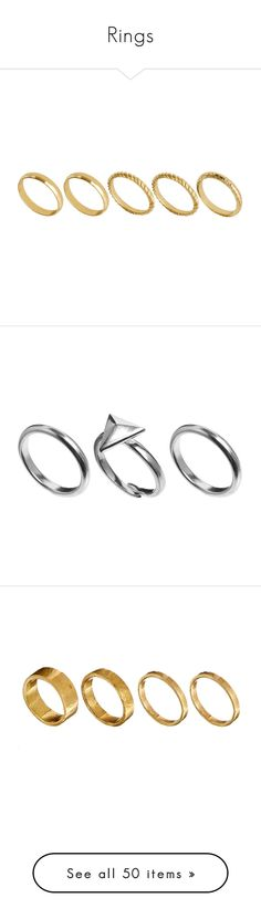 """""""Rings"""" by dianasf ❤ liked on Polyvore featuring jewelry, rings, accessories, jewels, asos rings, fingertip rings, asos jewelry, finger tip rings, asos and stackable rings"""