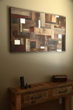 Reclaimed wood wall art 48x24x11/4 made of by CarpenterCraig