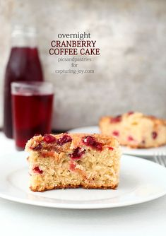 Overnight Cranberry Coffee Cake is a delicious way to get breakfast on the table during busy mornings. Cranberry Recipes, Cranberry Dessert, Coconut Slice, Pastry Blender, Sweet Bread, Coffee Cake, Cookies, Brunch Recipes, How To Make Cake