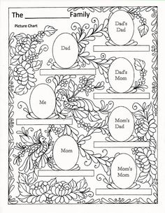 Color this family picture chart as you wish.