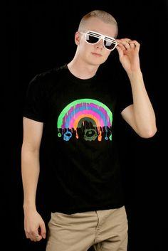 Sateenkaari DJ Miesten T-paita Rave, Mens Tops, T Shirt, Women, Fashion, Moda, Tee Shirt, Fashion Styles, Raves