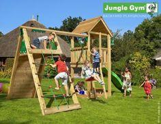 small wooden climbing frame club climb