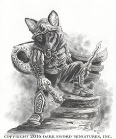 Frankie - Cat Rogue with Dagger - Critter Kingdoms™ Anthropomorphic Animals - Miniature Lines