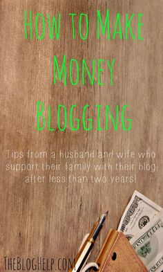 How to make money blogging - from someone who makes a full-time living! Making Money, Making Money Ideas, Making Money Online