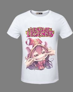 League of Legends Lulu cartoon white tshirt for men XXXL -