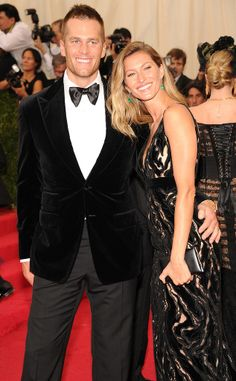 Celebrity  couple Tom Brady and Gisele Bündchen at 2014 Met Gala