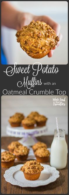 We bake these Sweet Potato Muffins with an Oatmeal Crumble Top anytime there is an extra sweet potato after dinner. They taste AMAZING! My kids love them for breakfast and in their lunchboxes! Make your sweet potatoes in the pressure cooker if you want to save some time!  /wholefoodrealfa/