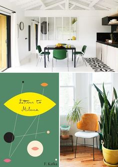 color palette: green + yellow + black.