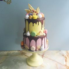 Image result for cake with biscuit decorations