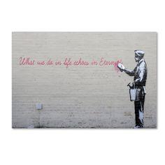 Banksy 'Echoes' Canvas Art (30 x 47)