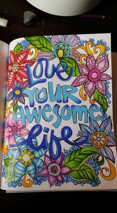 Colored by Amanda Marsh. Page 75 of The Coloring Studio.