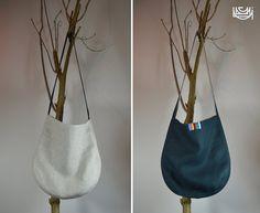 natuurlijke linnen tote tas  12 inch dubbelzijdig met door IAKOBO