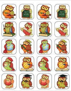 - Owl Stickers from Susan Winget, Stickers are acid-free and lignin-free per Industry Standards. 120 stickers per pack.