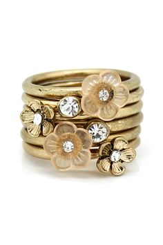 Multi-Flower Stacking Rings