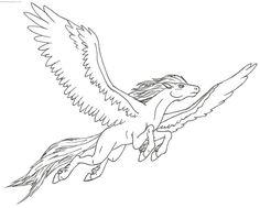 ausmalbild pegasus   ausmalbilder pferde zum ausdrucken, ausmalen und ausmalbilder