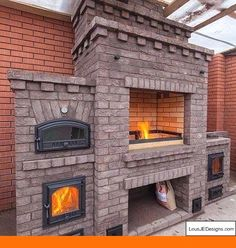 Discover thousands of images about outdoor oven complex barbecue - Garden decor ideas Backyard Kitchen, Fire Pit Backyard, Backyard Patio, Outdoor Fire, Outdoor Living, Pizza Oven Fireplace, Parrilla Exterior, Barbecue Garden, Grill Barbecue