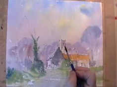 Video Demo: Tim Fisher paints an impression of the village of Tunstall, Suffolk using loose watercolour washes mostly wet into wet