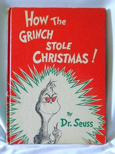 Vintage Christmas Book ~ How the Grinch Stole Christmas ©1957