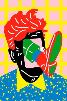 "tonihalonen: ""Kenzopedia Q for Quirky Illustration for Kenzo, 2014 Link to the story "" Art And Illustration, Graphic Design Illustration, Graphic Art, Pop Art, You Draw, Art Inspo, Stencil, Sketches, Wall Art"