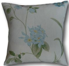 Cushion covers made with Laura Ashley cotton blend quality fabric. Cushion cover has a cream cotton envelope back. All seams overlocked with an industrial overlocker. Green Cushions, Floral Cushions, Throw Cushions, Floral Throws, Floral Throw Pillows, Cushion Cover Designs, Cushion Covers, Laura Ashley Fabric