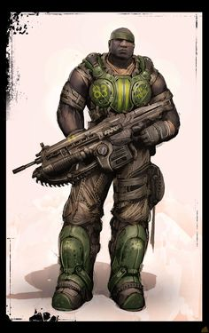 Image for Gears of War 3 (Xbox - Character Concept Art << ooh! This is the Cole Train! Game Character, Character Concept, Concept Art, Character Design, Video Game Art, Video Games, Gears Of War 3, Comic Face, Gear Art