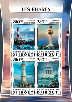 DJB16314a Lighthouses (The Scouts Tierra del Fuego, Argentina; Jeddah Jeddah, Saudi Arabia; The lighthouse of Lindau on Lake Constance, Germany; Ledge New London Groton, Connecticut, USA)