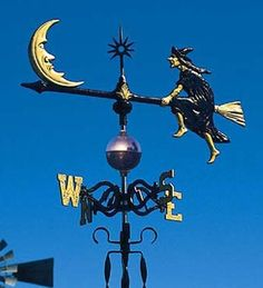 Flying Witch Weathervane I have been talking about a witch weathervane for years!! I need this!!
