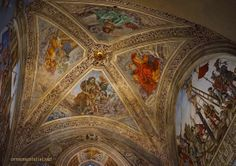 The Capella di Filippo Strozzi is one of the major chapels in Santa Maria Novella in Florence.  It was painted between 1489-1502 by Filippino Lippi,