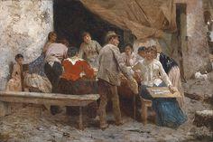 Pio Joris - The Fortune Teller by Pio Joris    Pio Joris (Rome, June 8, 1843 - Rome, March 6, 1921)