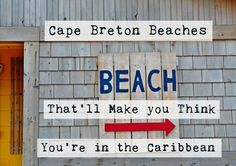 We just got back from a week in Cape Breton and holy cow you should see the beaches! Who needs to go to the Caribbean, or Ireland, or Florida when Canadians have gorgeous, white sand, pink-rock cov… East Coast Road Trip, Island Pictures, Cape Breton, Beautiful Ocean, Quebec City, White Sand Beach, Newfoundland, Nova Scotia, Staycation