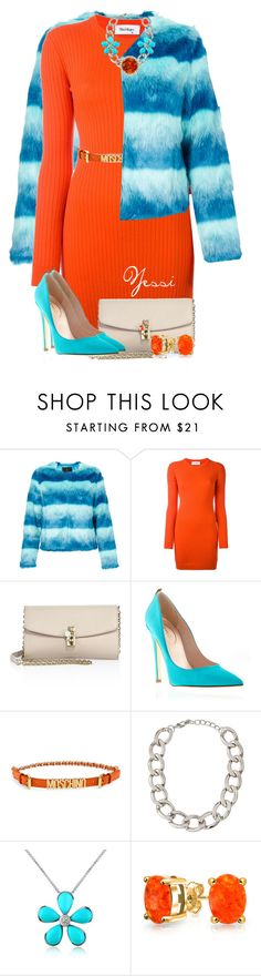 """""""~ 💕 Orange Dress 💕 ~"""" by pretty-fashion-designs ❤ liked on Polyvore featuring Unreal Fur, Courrèges, Dolce&Gabbana, Moschino, Lydell NYC, Del Gatto and Bling Jewelry"""