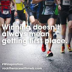 Running Matters #36: Winning doesn't always mean getting first place.