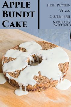 Healthy Apple Bundt Cake - even the frosting is good for you! This won't last long at your house! Gluten free, vegan, and easy to make!
