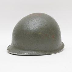 Vintage Green Metal Military M1 Helmet
